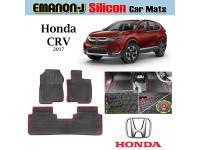 HONDA CRV 2017 EMANON-J Silicon Car Floor Mats Waterproof Carpet 3 Pcs