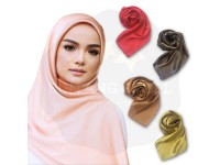 Women Scarf Satin Plain Print Square Ladies Office Headwear 90cm*90cm