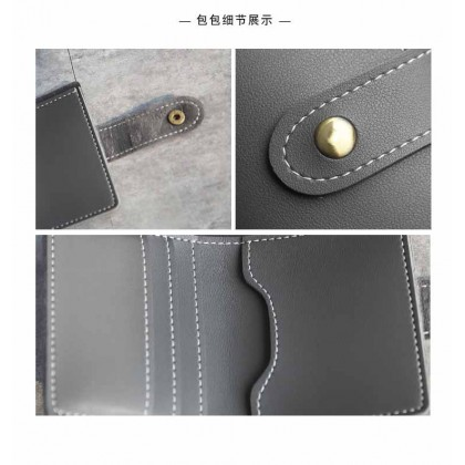 Women Mini Purse Wallet Short Simple Two-Fold Credit Card Holder ATM Money Business IC Name Pocket Case