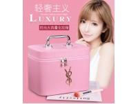 Cosmetic Bag Portable Large Capacity Storage Box Organizer Makeup Case for Travel MUA Wedding