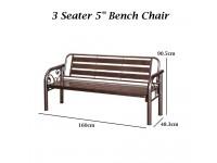"5"" Bench Chair / Metal Long Bench / Outdoor Bench Chair / Garden"