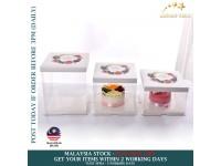 6/8 Inch Cake Box Transparent Custom Baking Box Pastry Bakery Birthday 1 2 Tier