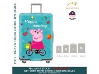 18-30'' PEPPA PIG Elastic Travel Luggage Dustproof Cover TrolleySarung Pelindung Pembalut Bagasi
