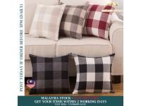 Pillowcase Classic Square Linen Large Lattice Pillow Home Bed Sofa Decorative Cushion Cover