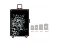 18-32'' Denim 3D BLACK PANTHER Elastic Travel Luggage Dustproof Cover Case Suitcase Sarung Pelindung Pembalut Bagasi